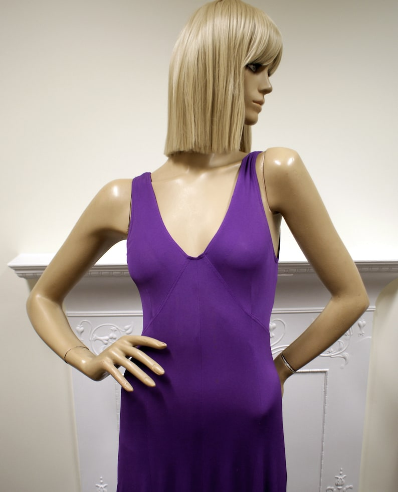 Slinky Jean Muir purple rayon jersey 1970s vintage image 0