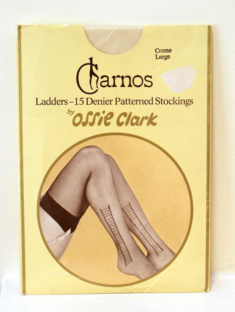 Quirky novelty Ossie Clark for Charnos 'Creme' ladder image 0