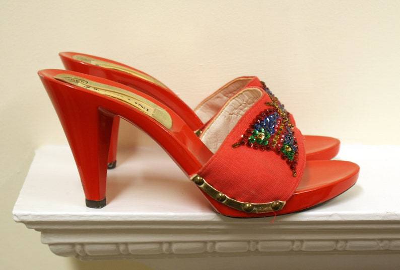 Glam rock sequined butterfly Pollini for Kurt Geiger vintage image 0
