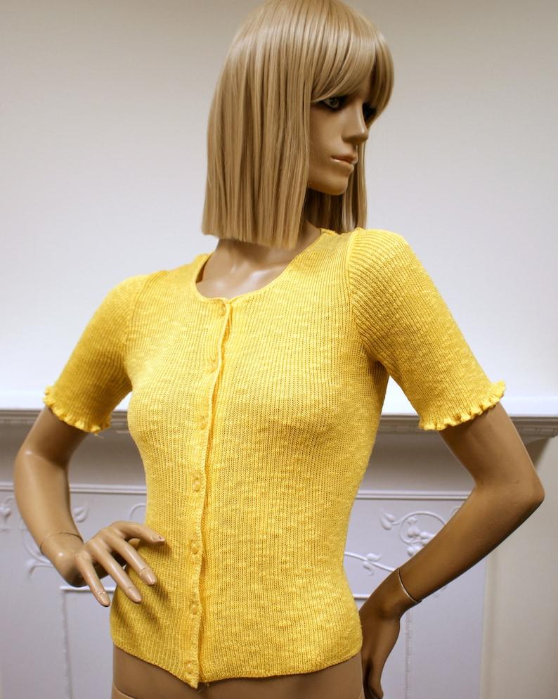 Sunshine yellow Glam Rock Harold Ingram 1970s vintage acrylic image 0