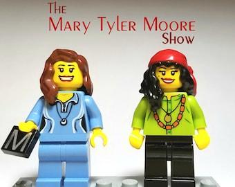 Mary and Rhoda - Custom Lego Minifigure Set - The Mary Tyler Moore Show