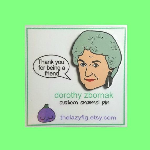 """Golden Girls /""""Dorothy/"""" Bea Arthur 2/"""" Enamel Pin"""