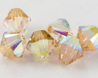 464c55eb0 4mm Golden Shadow AB Swarovski 5301 5328 Bicone - Swarovski Crystal  Passions®, Crystal Golden Shadow AB - Various Package Sizes Available