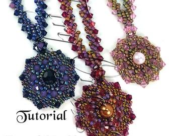 KR032 TUTORIAL - Laurel Necklace Instructions  Beadweaving Pattern Instructions