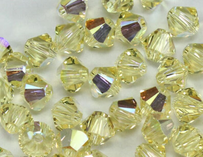 180b09289550b 6mm Bead, Jonquil AB Bicone 5301 5328 Swarovski crystal, Crystal Passions®,  Jonquil AB - Pack of 15