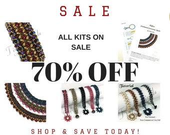 70% OFF  All Kits - Huge Liquidation  Sale 60 Percent Off Bead Supplies - Save Today- While Supplies Last - This is just an AD for the Sale!