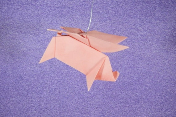 Origami flying pig | My humble contribution to the (surprisi… | Flickr | 380x570