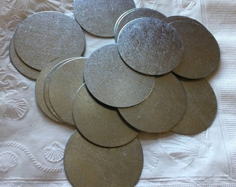 50 pieces 40mm galvanized steel circle discs for painting crafts