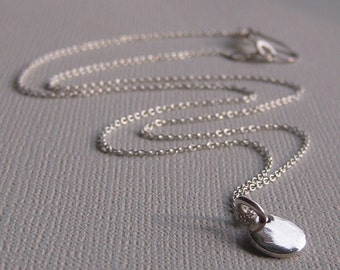 Organic Silver Dot Necklace