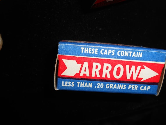 ARROW Vintage Roll Caps-2 Boxes Full- for vintage cap gun-pistol
