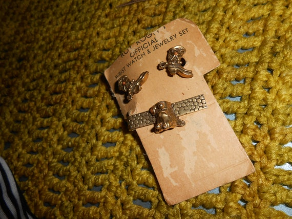 Vintage Roy Rogers Cuff Links and Tie Bar