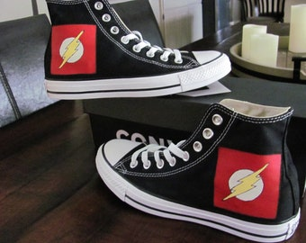 2e20cc6badc Converse Chuck Taylor All Star Canvas High Top CHILD   YOUTH hand painted  FLASH shoes