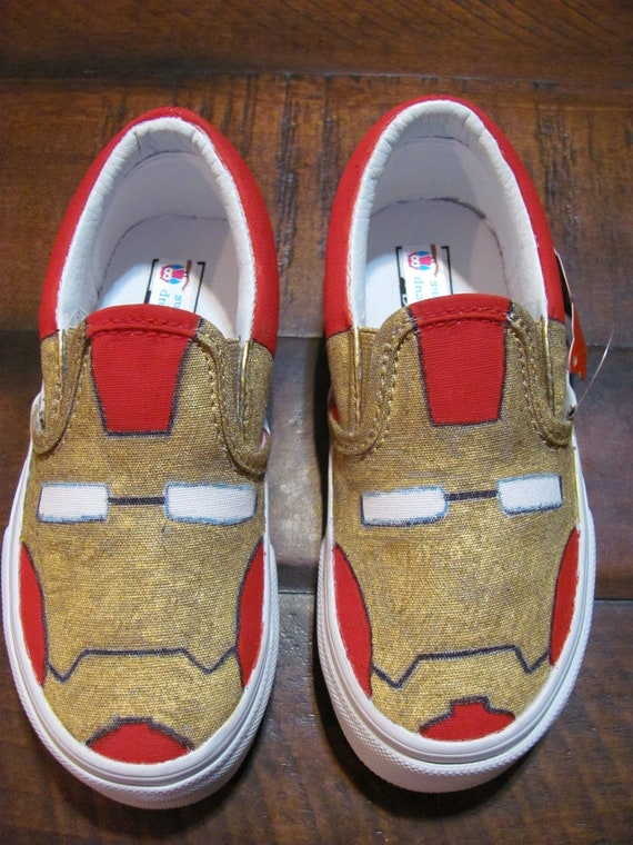 Iron Man hand painted custom shoes for