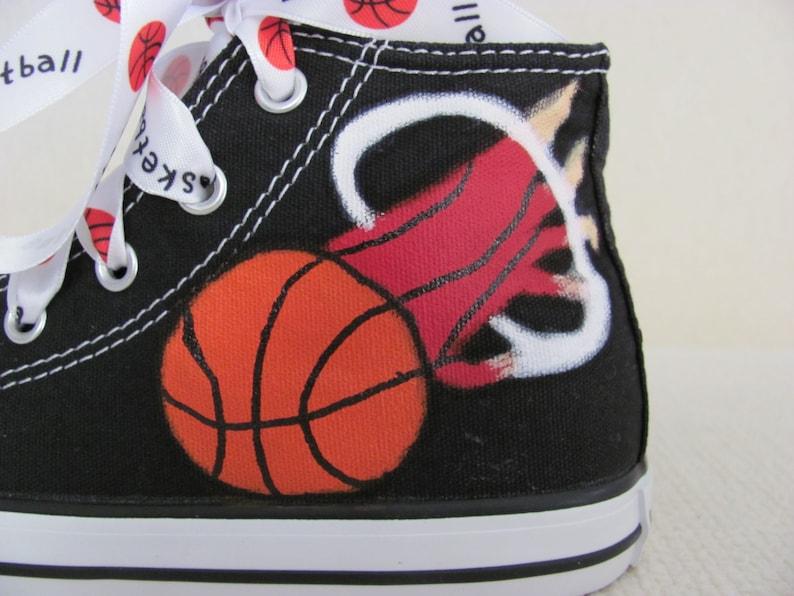 6a0eb70ef8ddb2 Handpainted Miami Heat childrens hightop shoes