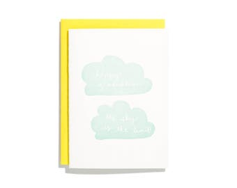 Sky is the Limit - Letterpress Graduation Card - CC146