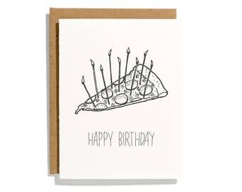 Pizza Birthday - Letterpress Birthday Card - CBR138