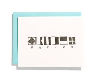 Nautical Father - Letterpress Holiday Card - CH127