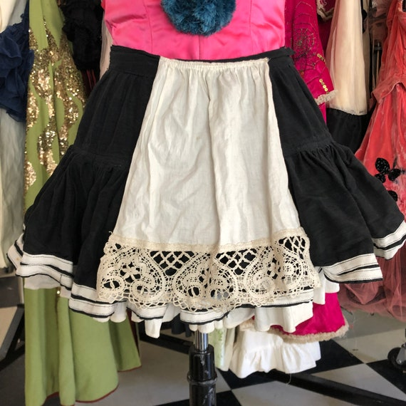 Adorable Antique Showgirl French Maid Skirt Costum