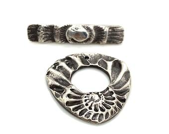 Sterling Silver Ammonite Toggle