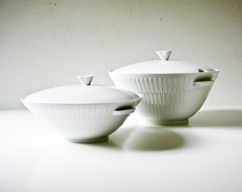 Hutschenreuther - Mid Century Modern Tureens - Apart Pattern - Simple and Elegant