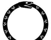 Ouroboros matte black vinyl decal