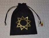 Nonagram sacred geometry tarot dice bag
