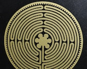 Chartres Cathedral labyrinth gold vinyl decal