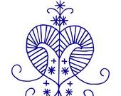 Erzulie voodoo veve blue vinyl decal