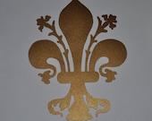 Medieval Florence fleur-de-lys copper vinyl decal