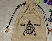 Turtle totem tarot rune dice bag