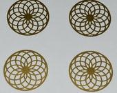 Torus SET of 4 gold vinyl decal