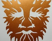 Celtic oak greenman copper vinyl decal