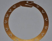 Ouroboros copper vinyl decal