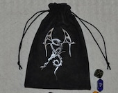 Dungeons and Dragons tribal game dice bag