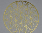 Flower of life gold vinyl decal