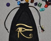 Egyptian Eye of Horus dice bag