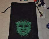 Celtic greenman druid dice bag