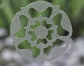 Medievel tudor rose SET of 6 etched glass vinyl decals