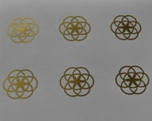 Seed of life SET of 6 gold vinyl decal