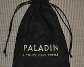 PALADIN Dungeons and Dragons game dice bag