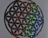 Flower of life confetti vinyl decal