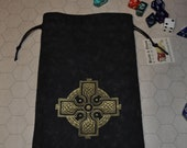 Celtic knot cross dice bag