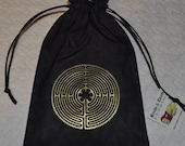 Chartres cathedral labyrinth Flower of life sacred geometry reversible bag