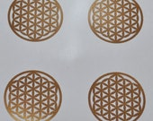 Flower of life SET of 4 copper vinyl decal