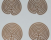 Labyrinth SET of 4 classic 7 circuit copper vinyl decals