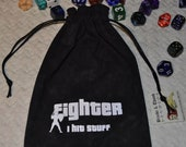 FIGHTER Dungeons and Dragons game dice bag
