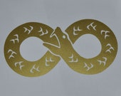 Ouroboros infinity gold vinyl decal