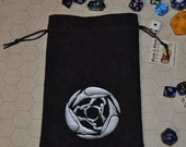 Corvus Celtic raven tarot rune dice bag