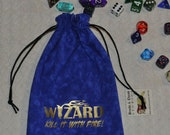 WIZARD Dungeons and Dragons game dice bag