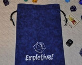 EXPLETIVE fumble Dungeons and Dragons  dice bag